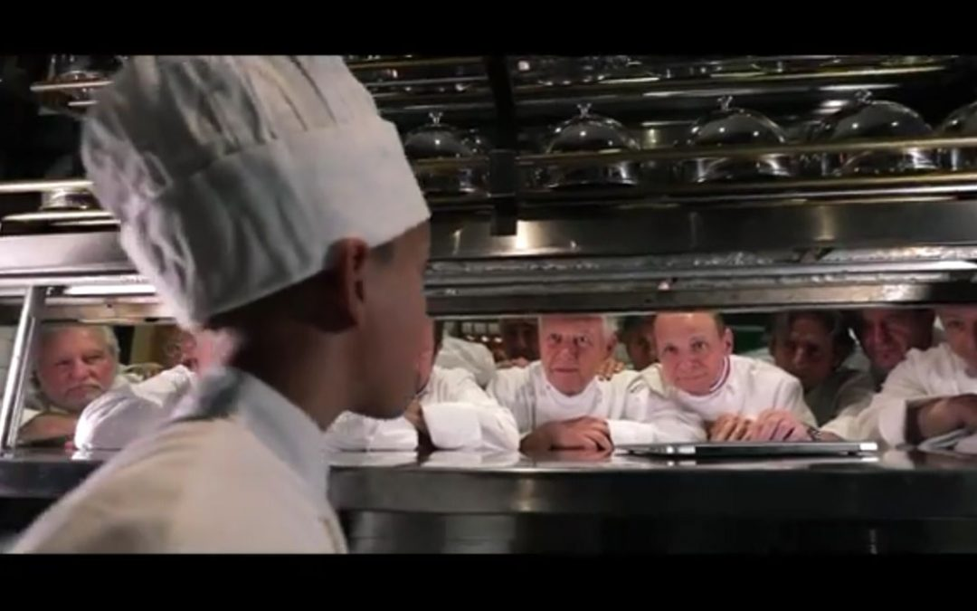Capture de la vidéo du collège culinaire de France avec Lionel Durot