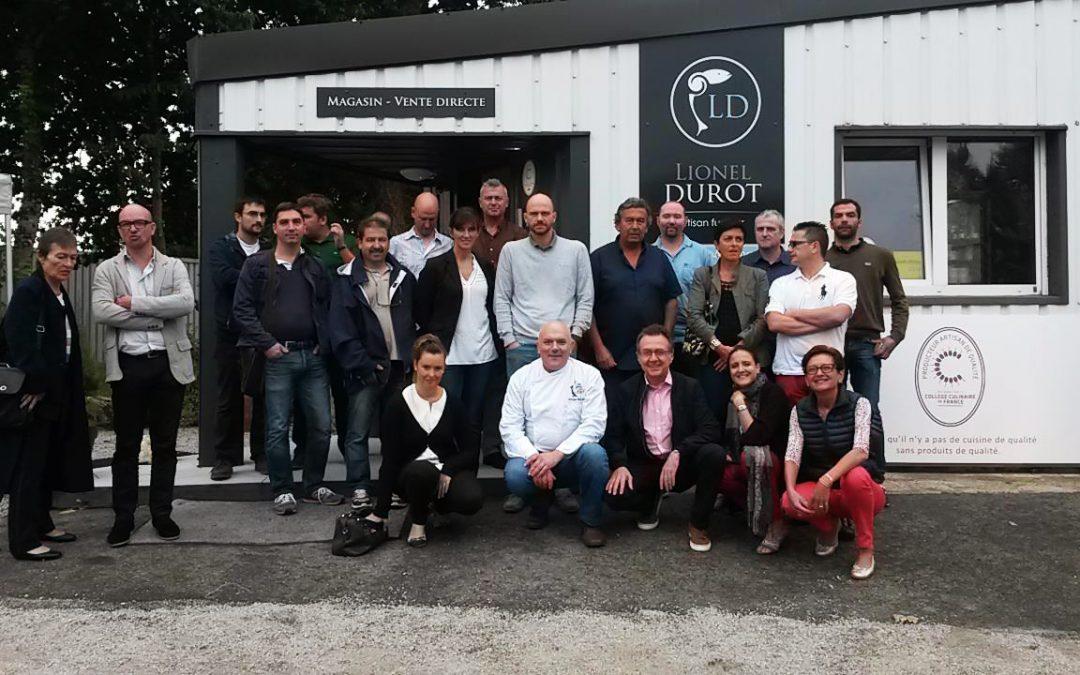 Réunion du collège culinaire de france à la boutique Lionel Durot d'Arradon